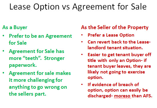 Session  Buyers Vs Seller Lease Options Vs Afs And How To Do A